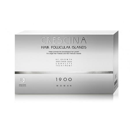 Комплекс для лечения выпадения волос для ЖЕНЩИН Crescina HFI 1900 / 20 + 20 ампул