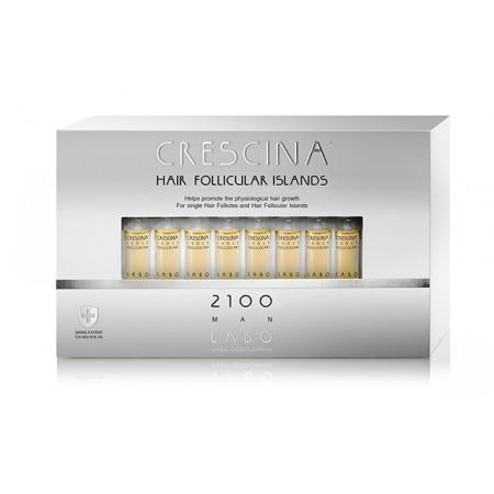 Лосьон для стимуляции роста волос для МУЖЧИН Crescina HFI 2100 / 40 ампул