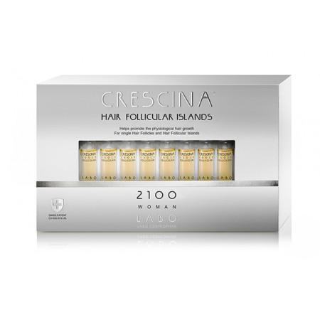 Лосьон для стимуляции роста волос для ЖЕНЩИН Crescina HFI 2100 / 40 ампул