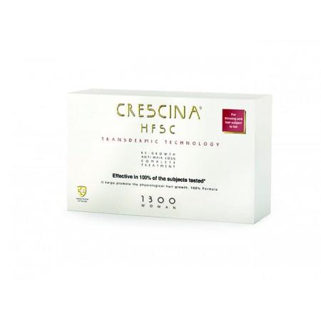 Комплекс для лечения выпадения волос для ЖЕНЩИН Crescina Transdermic HFSC 1300 / 10 + 10 ампул