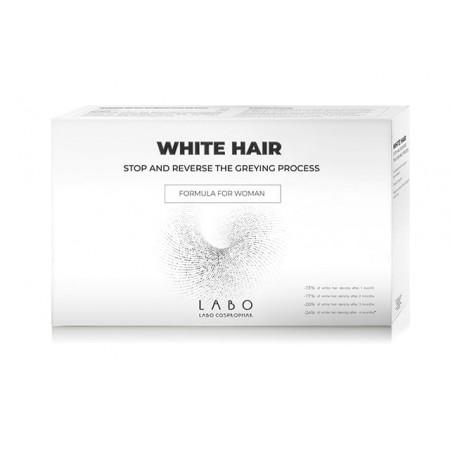 Лосьон для борьбы с сединой ДЛЯ ЖЕНЩИН Labo WHITE HAIR / 20 ампул